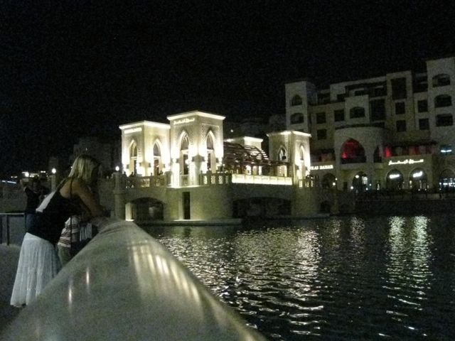Dubai Old Town Water At Night